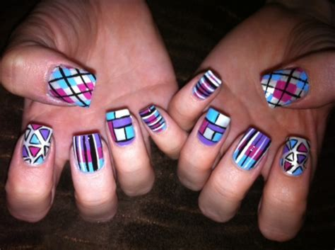 Aus Grau Wird Bunt Betonpflaster Lasieren by Nageldesign Muster Wie Sie Fingern 228 Gel Designs Selber Machen