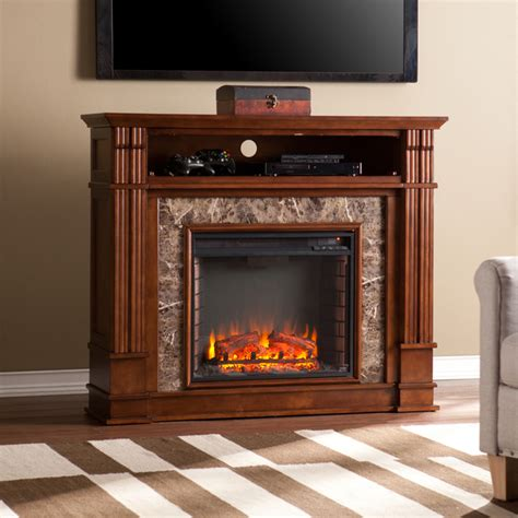 faux stone electric fireplace   advantages homesfeed
