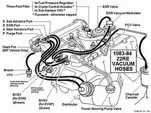 1995 Toyota 4runner 30l Vacume Hose Diagram