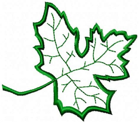 Leaf Applique by Free Embroidery Design Leaf Applique I Sew Free