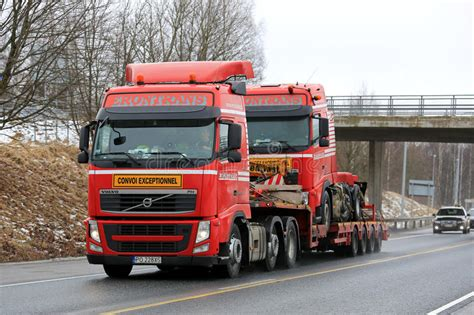 red volvo fh exceptional transport  identical truck