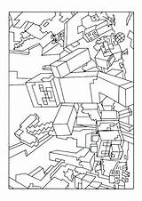 Minecraft Coloring Pages Skeleton Printable Getcolorings sketch template