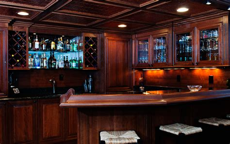 basement bars custom wood creations