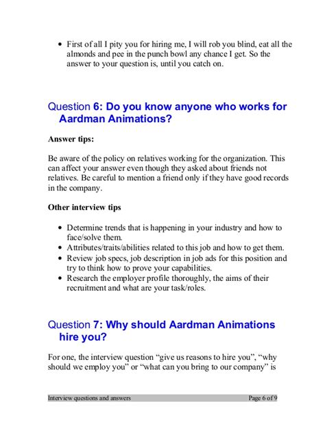 What Can I Bring To This by Top 7 Aardman Animations Questions And Answers