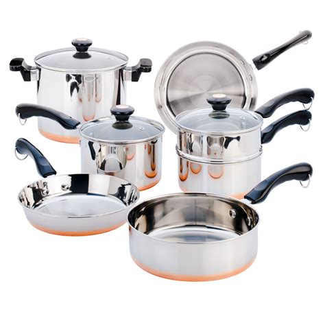 copper cookware bottom pc revere sm kitchen master plated