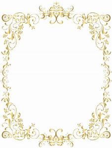 Border Gold Decorative Frame PNG Clip Art   Gallery ...