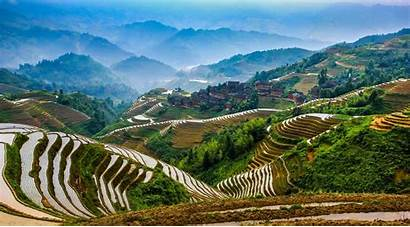 Rice Field Wallpapers China Longsheng Terraces Village