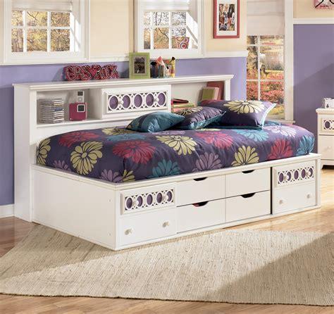 signature design  ashley zayley twin bedside bookcase