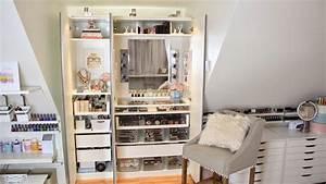 Ikea Pax Schranktüren : ikea pax kleiderschrank hack umfunktionieren als schminktisch make up sammlung collection ~ Eleganceandgraceweddings.com Haus und Dekorationen