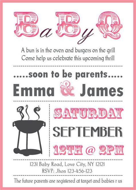 baby shower bbq invitation couples boy  girl