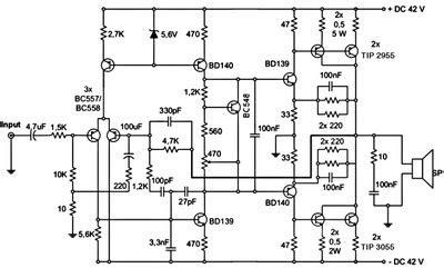 Subwoofer Amplifier Circuit Diagram The