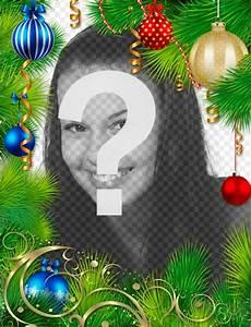 Guirlande De Photo : guirlande de no l pour d corer votre photo photoeffets ~ Nature-et-papiers.com Idées de Décoration
