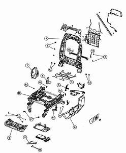 Dodge Ram 1500 Adjuster  Manual Seat  Trim   Cloth 40  20