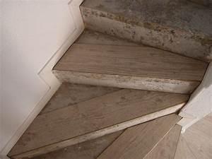 Poser du parquet flottant sur un escalier for Escalier parquet flottant