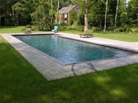 piscine bois avec escalier integre photo de piscines r 233 alisations dans le calvados delalande piscines