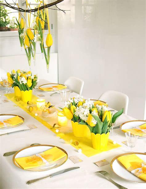 ma boutique deco table decoration de table jaune
