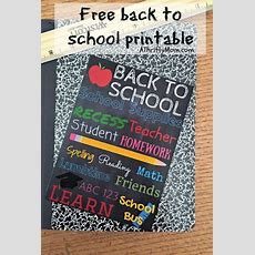 Free Back To School Printable