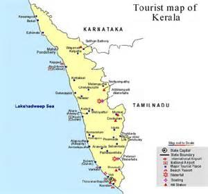 Kerala Tour Map, Tourist map of Kerala, touristmap, Map of ...