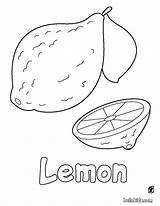 Lemon Coloring Pages Printable Fruit Sheets Apple Hellokids Fruits Vegetable Nature sketch template