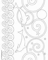 Dolphin Coloring Pages Printable Patterns Pattern Crochet Another Knitting Donteatthepaste Template Bookmarks Colors Fun Printablee sketch template