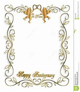 3d invitation template http webdesign14com With golden wedding invitation borders free download