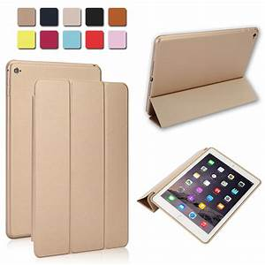 Luxury Slim Smart Leather Stand Cover Silicone Back Case ...