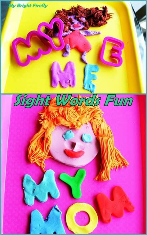 mommy and me preschool sight words my and me play dough describing my and 651
