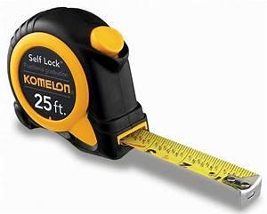 Komelon Sl2925 25ft  Self Lock Speed Mark Tape Measure