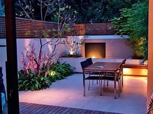 design exterieur petit jardin eclairage exterieur coin With idee amenagement jardin rectangulaire 6 petit jardin idees damenagement deco et astuces pratiques