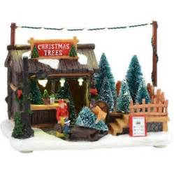 holiday time 5 5 quot led lighted trees for sale christmas village walmart com