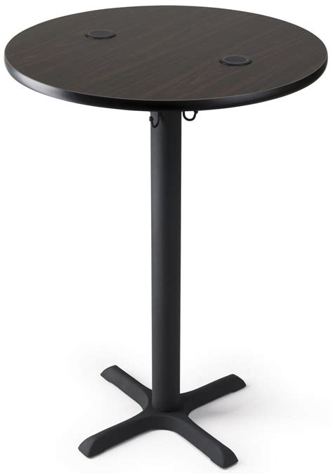 """Wireless Charging Cocktail Table  30""""w 42""""h Mocha Walnut. Armless Swivel Desk Chair. Coffee Table Rustic. Cheap Baby Changing Table. Round Patio Table. Refinished Secretary Desk. Walmart Home Office Desk. Brown Computer Desk. Double Desks"""