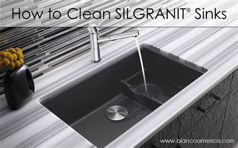 how to clean silgranit sinks design
