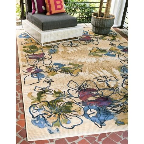 Outdoor Rug 10 X 12 by Shop Unique Loom Pansy Outdoor Area Rug 10 X 12 On