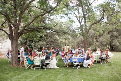 colorado backyard wedding rustic wedding chic