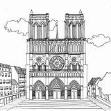 Paris Notre Dame Pages Cathedral Coloring Printable Adult Stress Projet Drawing Chocobo Coloriages Colouring Anti Coloriage Dessin Categories Places Par sketch template