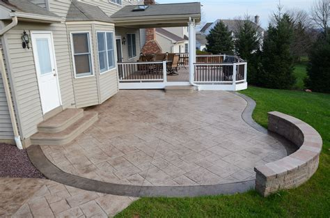 Concrete Patio Deck Ideas