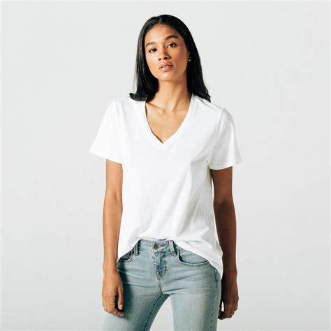 womens v neck in white 25 dstld