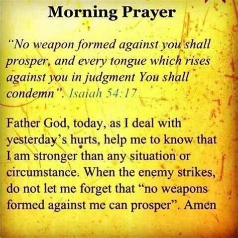 no weapon formed against me shall prosper a word from