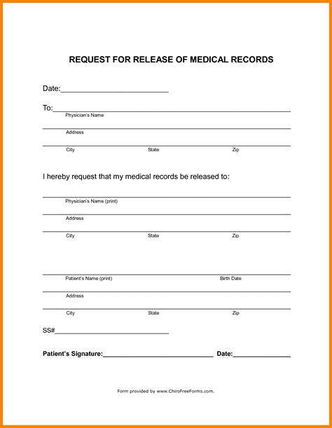 Generic Consent Form Template by Records Release Form Template Professional Template