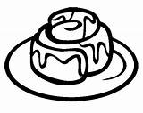 Cinnamon Roll Clipart Coloring Cookie Rolls Potato Chocolate Forward Canela Besoek Clipground sketch template