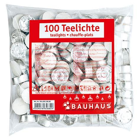 teelichter 100 stück teelichter 100 stk wei 223 bauhaus