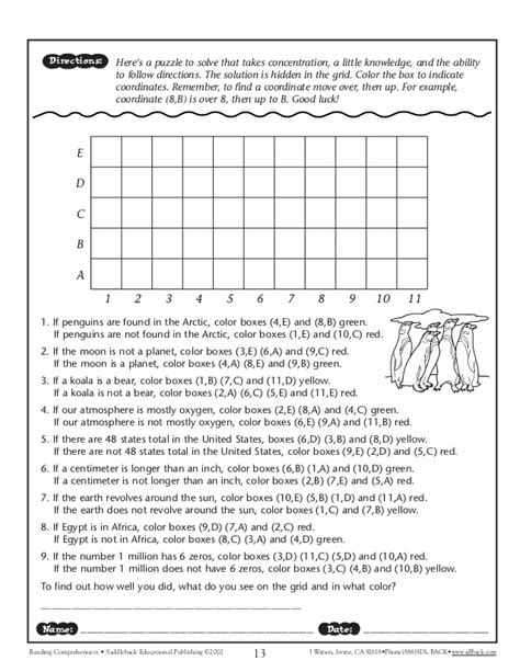 Following Directions Worksheet Elementary Students Homeshealthinfo
