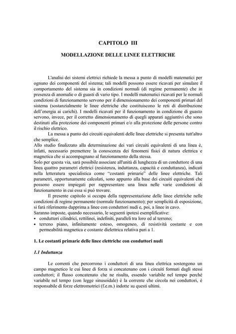 Dispense Impianti Elettrici by Linee Elettriche Costituzione Dispense
