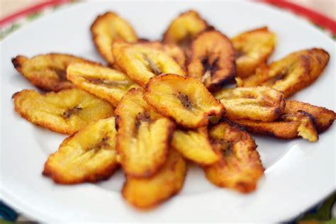 yellow white tajadas fried plantain slices hispanic kitchen