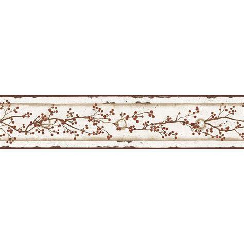 Kitchen Wallpaper Borders Ideas - york wallcoverings berry vine wallpaper border cb5551bd the home depot