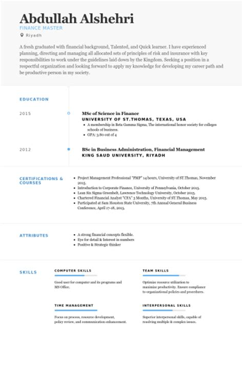 finance resume sles visualcv resume sles database