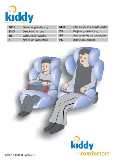 babideal siege auto notice mode d 39 emploi kiddy comfort pro siège auto trouver une