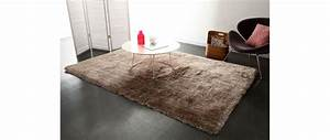 tapis shaggy taupe 160x230 cm ugo miliboo With tapis shaggy avec canapé electrique fly