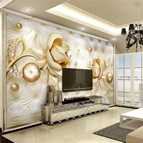 beibehang  wallpapers luxury gold roses soft bag ball
