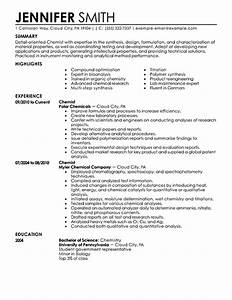 best chemist resume example livecareer With scientific resume writing services